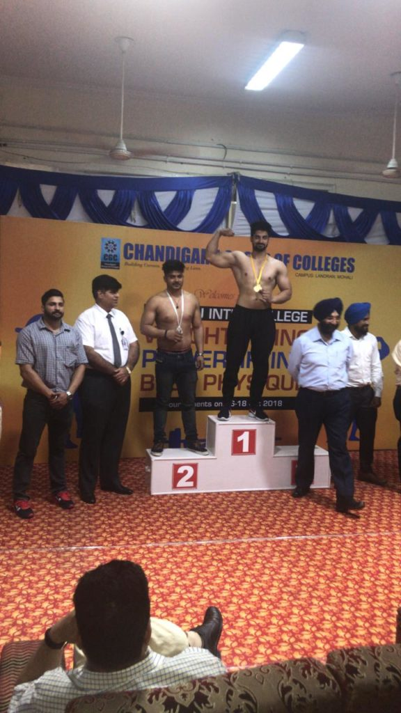 Pimt Gold Medal in IKG PTU Best Physique Inter College Competition