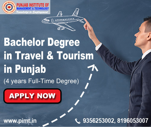Bachelor degree in travel and tourism in Punjab