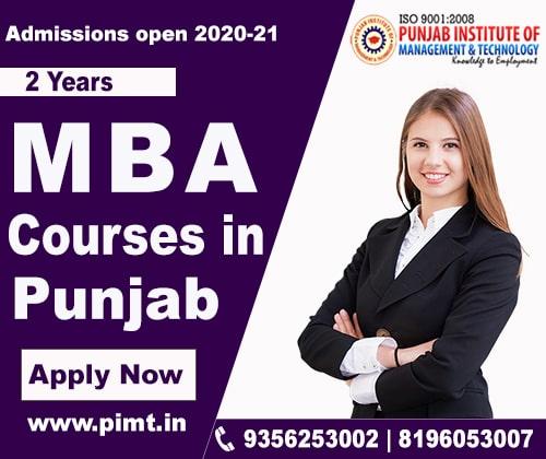 Best MBA courses in Punjab-PIMT